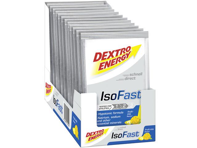 Dextro Energy IsoFast Sachets de Boisson minérale Carbo 12x56g,, Fruit Mix